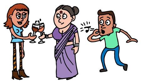 Illustrative representation of Indian society Çizim