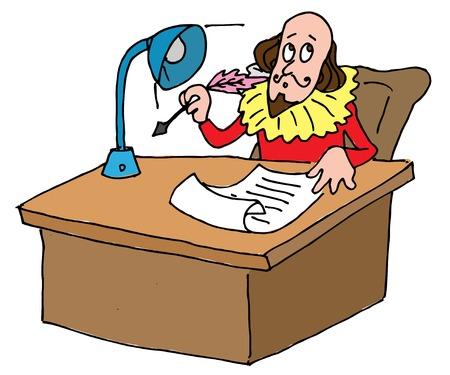 셰익스피어의 책상의 예시 표현