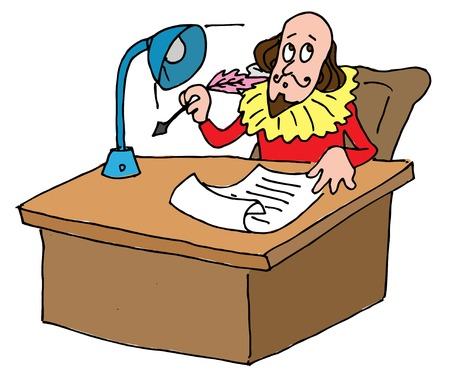 Illustrative representation of Shakespeares desk Vector