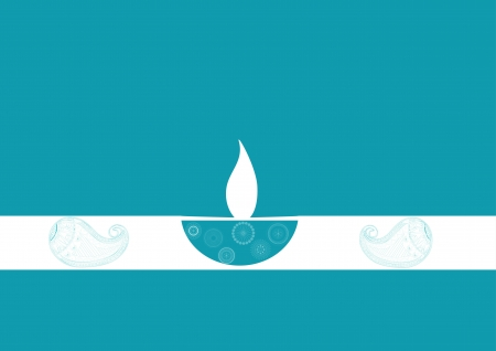 oil  lamp: Diwali oil lamp isolated on colored background