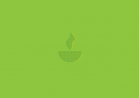 oil  lamp: Diwali oil lamp isolated on green background