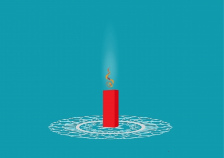 Diwali firecracker isolated on colored background Illustration