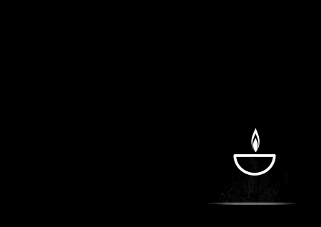 Diwali oil lamp isolated on black background Vector