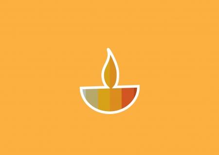 lampa naftowa: Diwali lampy naftowej samodzielnie na pomarańczowym tle