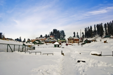 Ski resort in winter, Gulmarg, Jammu And Kashmir, India