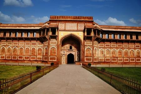 Tourists at Agra Fort, Agra, Uttar Pradesh, India Stock Photo