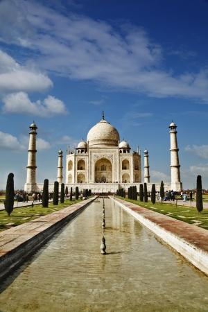 mughal: Tourists at a mausoleum, Taj Mahal, Agra, Uttar Pradesh, India Editorial