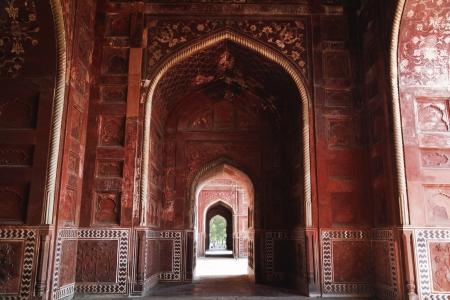 uttar pradesh: Archway of the Taj Mahal, Agra, Uttar Pradesh, India Editorial