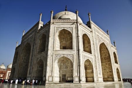 Tourists at a mausoleum, Taj Mahal, Agra, Uttar Pradesh, India Editorial