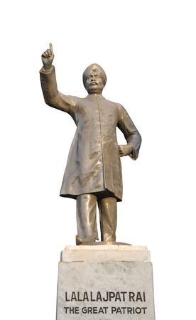 named person: Low angle view of the statue of Lala Lajpat Rai, Shimla, Himachal Pradesh, India