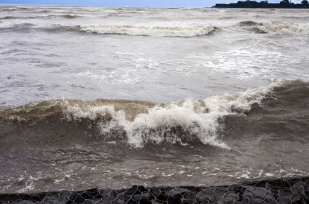 konkan: Waves in the sea, Alibag, Raigad District, Konkan, Maharashtra, India