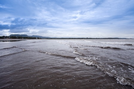 konkan: Waves on the beach, Alibag, Raigad District, Konkan, Maharashtra, India