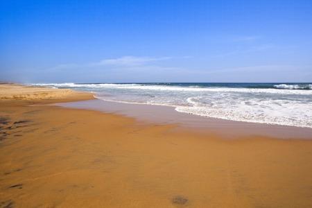 kovalam: Surf on the beach, Kovalam, Kerala, India Stock Photo
