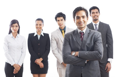 Portrait of business executives smiling photo