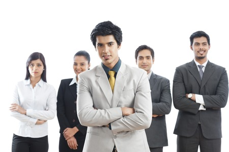 Portrait of five business executives photo