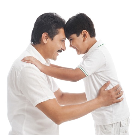 Man playing with his son photo