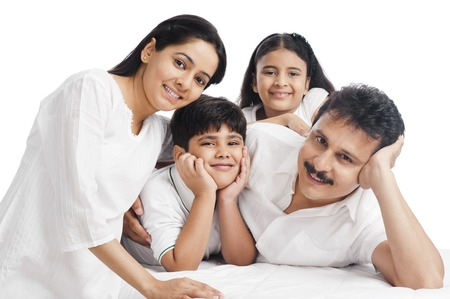 adult indian: Portrait of a happy family