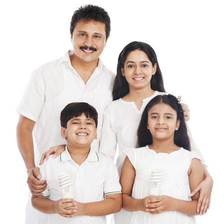 indian happy family: Portrait of a happy family