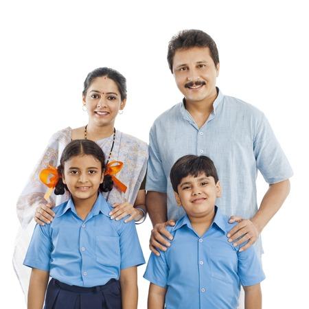 parents love: Portrait of a happy family