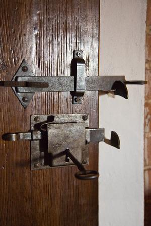 Close-up von einer verschlossenen Tür, Siena, Provinz Siena, Toskana, Italien Standard-Bild - 33376928