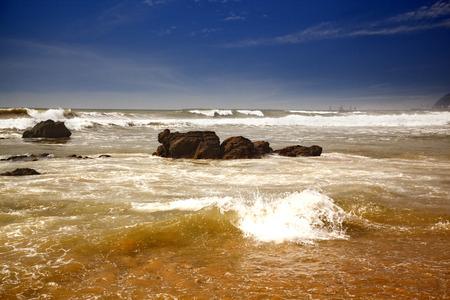 andhra: Waves in the sea, Visakhapatnam, Andhra Pradesh, India