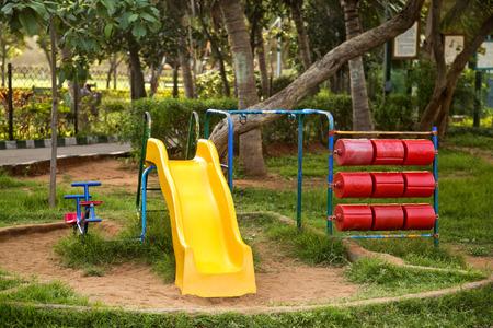 Play equipment in a park, Visakhapatnam, Andhra Pradesh, India