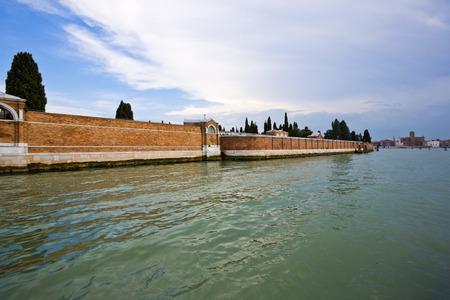 Wall at waterfront, Venice, Veneto, Italy