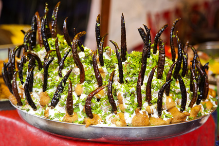 pradesh: Street Food, Charminar,  Hyderabad, Andhra Pradesh, India Stock Photo