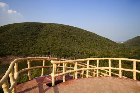 Watch tower in a park, Kambala Konda Eco Tourism Park (Majjisrinath), Visakhapatnam, Andhra Pradesh, India