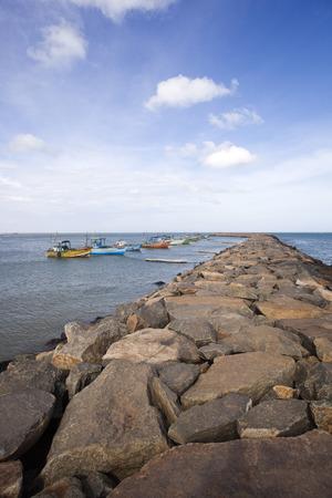 tamil nadu: Boats in the sea, Laccadive Sea, KanyaKumari, Tamil Nadu, India