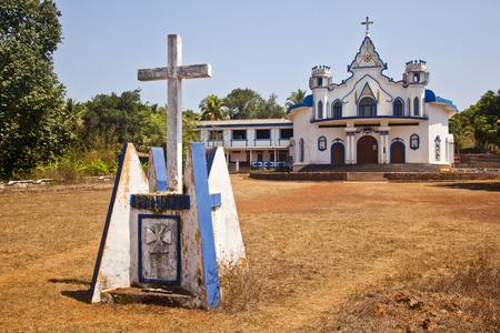 Facade of a church, Goa, India