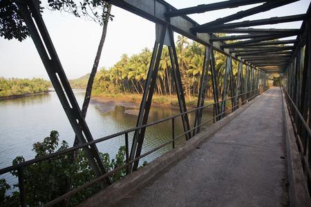 Bridge across a river, Goa, India Standard-Bild