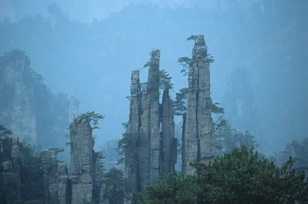 Tianzi Mountain,Wulingyuan,Hunan Province,China