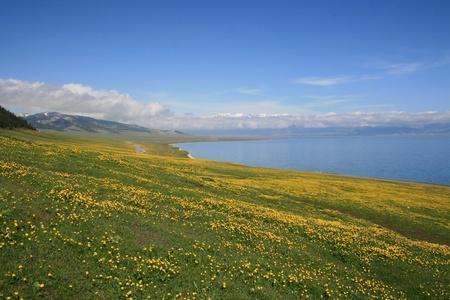 jokul: Sayram Lake,Xinjiang Province,China Stock Photo