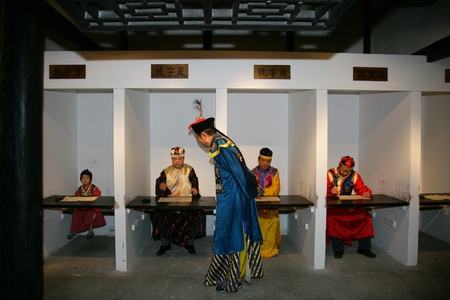 Reenactment of an ancient China Imperial Examination in Sichuan Province, China