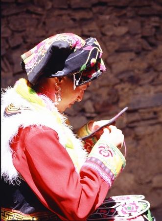 bowed head: Beautiful Chinese Girl
