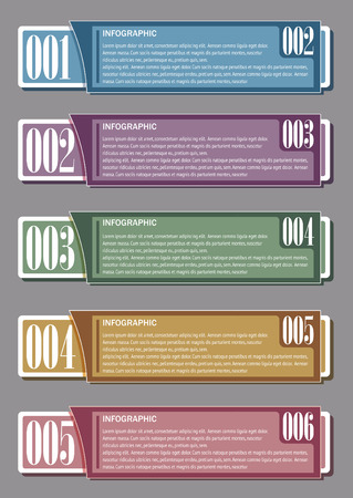 Infographic with Figures 1,2,3,4,5,6 Vector