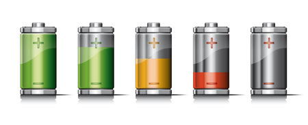 recharging: Recharging Battery with icons Illustration