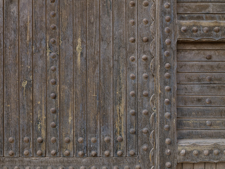 old wooden door with metal studs & Old Wooden Door With Detailed Metal Studs Stock Photo Picture And ... pezcame.com