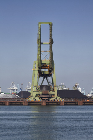 coal industry in the harbor of rotterdam netherlands