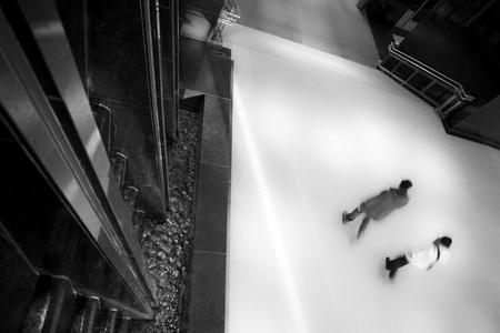 walking zone: Surreal Atrium  Stock Photo