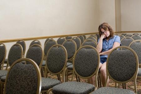 退屈な会議で女性