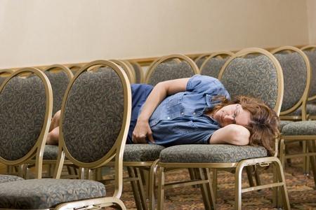 Femme dort à la Conférence de forage  Banque d'images - 10516996