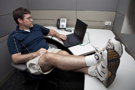 teleconference: Casual Friday Informal Work Environment  Stock Photo