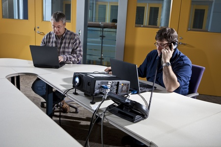 teleconference: Casual Friday Business Meeting Presentation  Stock Photo