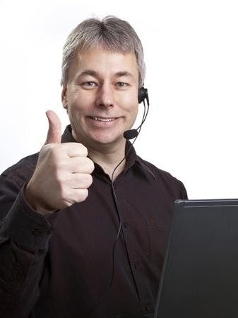 Thumbs up businessman  photo