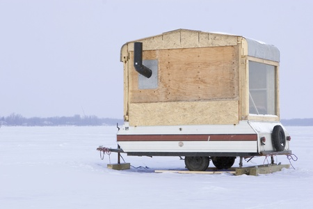 fishing huts: Hillbilly Ice fishing trailer