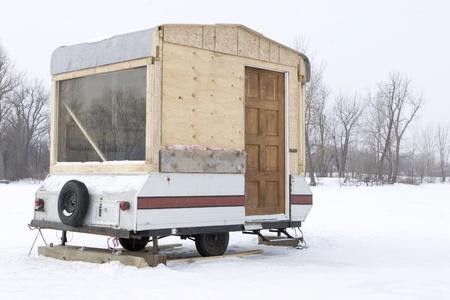 run down: Hillbilly Ice fishing trailer