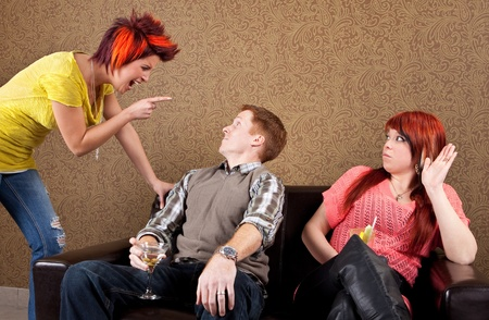 Relationship difficulties cheating  Stock Photo - 10522537