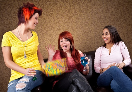 Young women at a birthday party  photo